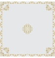 ornamental frame with Center vector image vector image