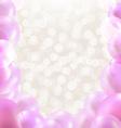 Pink Balloons Border vector image vector image