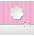 pink striped background with a frame vector image vector image