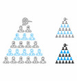 ponzi pyramid manager mesh wire frame model vector image vector image