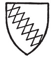 ralegh bore gules a bend indented or engrailed vector image vector image