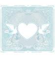 romantic card with love birds - Wedding Invitation vector image