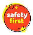safety first creative banner trendy linear style vector image