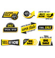 sale banners special offer banner low price tags vector image vector image