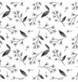 seamless pattern with tiny flower branches vector image vector image