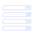 search bar design element set bar boxes vector image