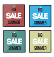 set big sale summer banner vector image vector image