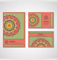 set of cards with mandala vector image vector image