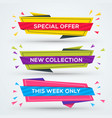 set of sale web banners shopping tags discount vector image
