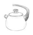 sketch of kettle vector image