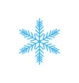 snowflake icon snow sign vector image vector image