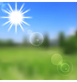 Sunny nature abstract design vector image vector image