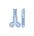 surgeons tools line icon concept surgeons tools vector image vector image