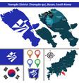 yeongdo district busan city south korea vector image vector image