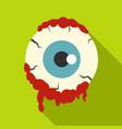 zombie eyeball icon flat style vector image vector image