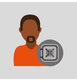 man african box safe money vector image