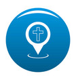 church map pointer icon blue vector image