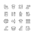 Set line icons of medical analysis vector image
