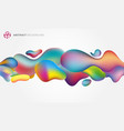 abstract 3d fluid splash plastic shape colorful vector image