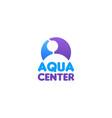 aqua center sign vector image