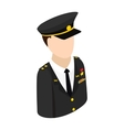 Army character isometric 3d icon vector image