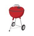 Barbecue grill cartoon icon vector image vector image
