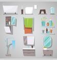 bathroom interior bathtub and shower vector image
