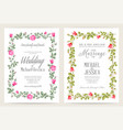 bridal shower invitation with flowers over white vector image vector image