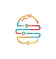 burger tech logo design vector image vector image