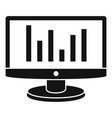 chart monitor icon simple style vector image