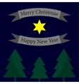 Christmas and New Year greeting - trees vector image vector image