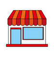 color image cartoon facade shop store vector image