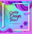 creative 3d flow poster design abstract background vector image