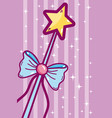 cute wand cartoon vector image