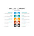 data integration infographic 10 option concept vector image
