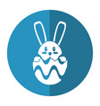 easter bunny in egg surprise shadow vector image vector image