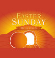easter sunday holy week tomb card vector image vector image