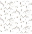 forest seamless simple outline style pattern vector image