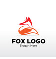 fox logo designs vector image