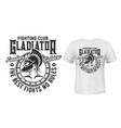 gladiator warrior tshirt print fight club mascot vector image vector image