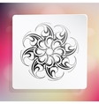 Graphic design element with ethnic ornament vector image vector image
