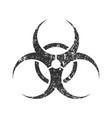 grunge stamp biohazard warning safety icon shape s vector image vector image