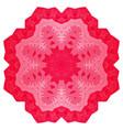 hand drawn doodle mandala hearts vector image vector image