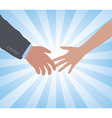 hands a man and a woman vector image vector image