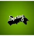 handwritten Spring retro label vector image vector image