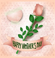 happy mothers day card with rose vector image