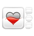 Happy Valentines day romance love Two colored vector image vector image