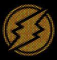 hexagon halftone electroneum icon vector image vector image