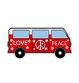 Hippie minibus vector image vector image