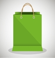icon bag green shop paper design vector image